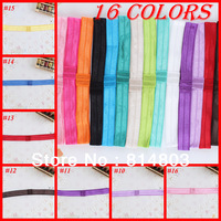 100pcs/lot 16 Colors to Choose DIY for Baby Headwear Elastic Band Super Soft Band for Girls Children Headband Free Shipping