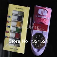 Top quality Colors DIY Nail Printer Pattern Nail Polish Printing Machine Nail Art Stamping Machine, Free Shipping