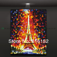 Abstract mural oil painting The Eiffel Tower home decor,picture only No frame