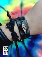 Handmade leather accessories strap bracelet