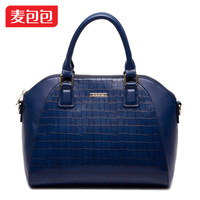 Alpha 2014 crocodile pattern elegant classic handbag cross-body women's handbag
