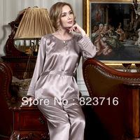 Free shopping 2014 women high-grade 100% mulberry silk sleepwear female long-sleeve silk pajamas-Fake a penalty ten