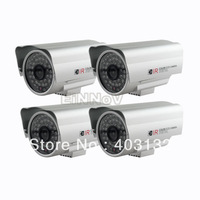 4pcs 700TVL CMOS Color Security Surveillance Outdoor Camera IR Cut 48 Leds A06CS
