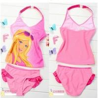 free shipping girls 2 piece girl girls swimwear swimsuits swimming bathers swimmers one piece