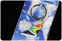 4cm Cute Mini South African Airlines Wing Plane Keychain Key chain Airplane Tailplane Keyring Key Ring Free Shipping