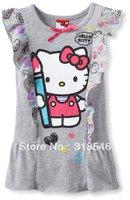 Free shipping 5pcs/lot  children clothing kids dress girls summer dress girls hello kitty dress 1-6years