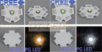 50pcs X Cree Xpg 5W led Cold White 6000-6500K;Warm White 3000-3200K 1-3W-5W LED with 20mm Star PCB for Flashlight/spotlight/Bulb