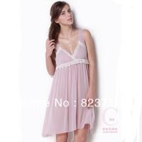 Free shopping 2014 women high-grade silk sleepwear sexy plus size 100% mulberry silk nightgown-Fake a penalty ten