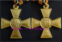 (lucyM0007)Gold Cross of St. George 2nd Class 5 Pcs With Ribbon Free Shipping  Medal