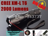 UltraFire E17 CREE XM-L T6 2000Lumens cree led Torch Zoomable cree LED Flashlight Torch light For 3xAAA or 1x18650