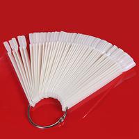 Nail Tools Fanghaped 50 color ring transparent incarcerators nail polish color oil ring nail polish glue color ring