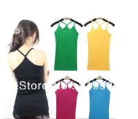 All-match 100% cotton long spaghetti strap design y small vest basic vest spaghetti strap top vest female