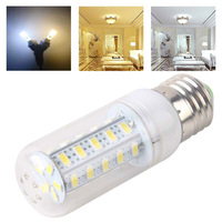 New Warm Pure White E27 8W 36 LED 5630 SMD Cover Corn Spotlight Light Lamp Bulb # 51415