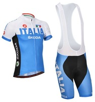 new 2014 Italy cycling jersey & bib cycling short kit 2014 cycling clothing/jerseys+cycling short set blue