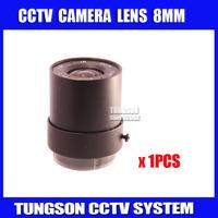 "Factory Direct 1/3"" HD F1.2 CCTV Fixed Iris IR Infrared 8mm CS Lens For Camera Metal CCTV Lens Board Camera .Free Shipping"