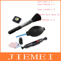 Camera Cleaning 5 in 1 Cleaning set piece suit lens pen air blowing cleaning cloth lens cloth spirit hot shoe Lens brush