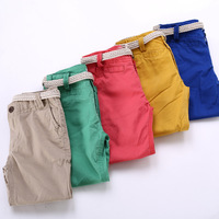 2014 New candy colors  boys pants  children  trousers with sashes  have age 2-10Y