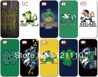 10PCS/lot New Notre Dame Fighting Irish style white Hard Case Cover for iphone 5 5th 5S +Free shipping