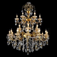 Meerosee New Design Hotel Chandelier Light, Imperial Style Lobby Crystal Lamp MD8504 L12+6+6 Ready Stock