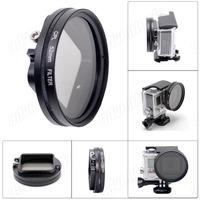 2014 New Arrival Professional 52mm  CPL Filter Circular Polarizer Lens Filter for Gopro Hero4 / Hero3+ Housing - Black