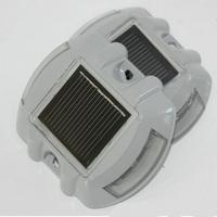 solar road stud lamp LED traffic warning gard lights  4pcs/lot Free shipping