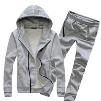 New arrival track suits for men zipper the trend of casual mens tracksuit set 3 colors M -3XL free shipping