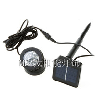 Outdoor Waterproof solar powered LED Spotlight for garden pool decorative 2pcs/lot  Freeshipping