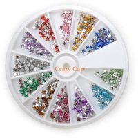 Pentagram Diamond 12 Color 1200pcs Nail Tools Art Rhinestones Decoration DIY Nail Stickers Drilling Nail Supplies Q8