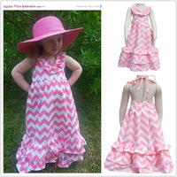 New Arrive 2014 Summer Cotton baby chevron dress