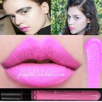 (Min Order 10$) New Arrival Waterproof Fluorescent Pink Color Lipstick matte smooth velvet lipgloss Long Lasting Lip Makeup
