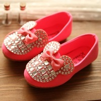 Free shipping 2014 child princess shoes bow shoes girls dance shoes hot-selling