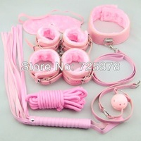 Easy fashion Sex Tools  kit, pink Leather Bedroom Restraint System, Bedroom Restraint Fun Adult Set,Sex Toy,Sex products