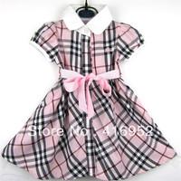 Free shipping 2014 European and American style home B short-sleeved dress girls dress girls dress