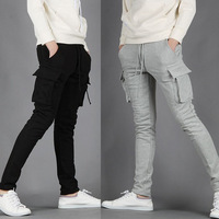 2013 men's clothing trousers male slim sports pants casual trousers the trend of the harem pants male health pants