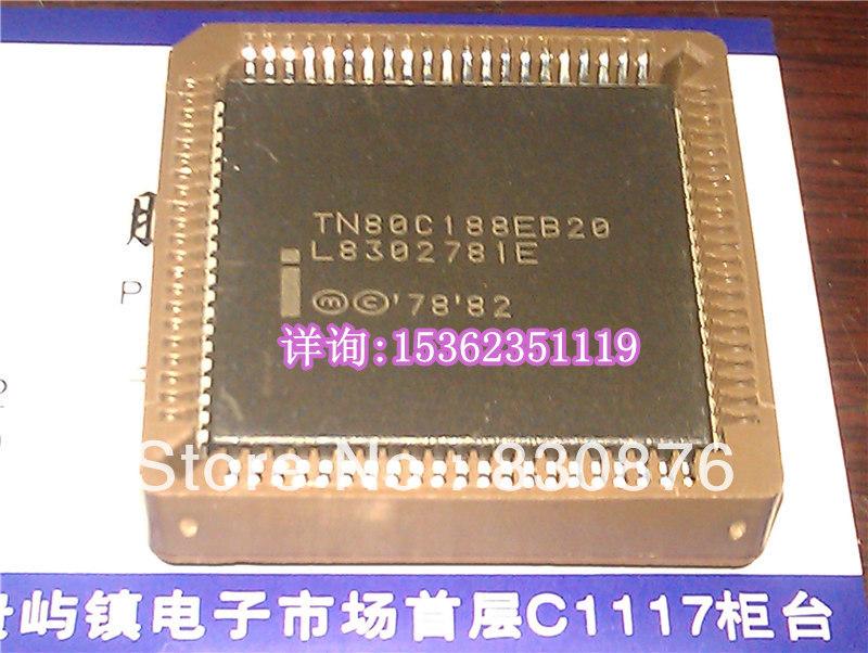 TN80C188EB20 . PLCC-84 16-Bit 20MHz Vintage microprocessor . 188 old cpu . 80C188 processor / Electronic Component(China (Mainland))