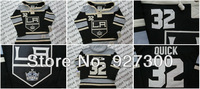 Los Angeles kings 32 Jonathan Quick Black Home LA Old Time Hockey Hoodie Authentic Ice Hockey Hoodies Winter