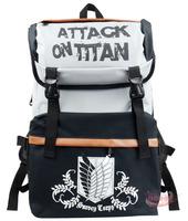 animation Naruto Uzumaki Shingeki no Kyojin Attack on Titan aren cosplay boy school bag backpack laptop message