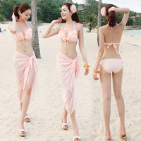 maillot de bain 2013 sexy swimsuit beach bikini three piece set swimwear belt mantillas swimwear