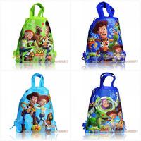Mixed 12Pcs Toy Story 3 Cartoon Drawstring Backpack Bag kids School Bags 21Designs,Non-woven Material 34X27CM Children Kids Bag