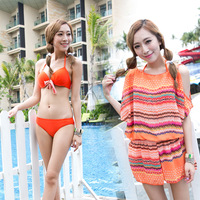 maillot de bain 2013 small push up steel piece set one piece swimwear