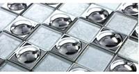 Modern Style High Class Glass&Silver Foil Mosaic Household Kitchen Mosaic Art Backsplash Tile Hotel Bar High Class Decoration