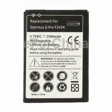 3800mAh Celular Replacement Mobile Phone Batteries / Battery Accumulator for LG Optimus G Pro F240K
