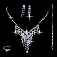 wj024 The bride accessories piece set wedding dress necklace marriage accessories ring hair accessory set the bride necklace
