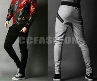 2014 Hot! New Mens Casual Harem Baggy Hip Hop Taper Dance Sport Sweat Pants Trousers