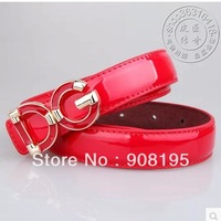 Free Shipping Fashion Unisex New Style Smooth Buckle Leisure pu Leather Belt