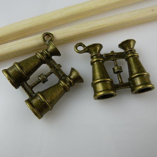Frete grátis (100 peças /) 10801 encantos Telescope Binóculos Pingente Antiqued Bronze Vintage Tone(China (Mainland))