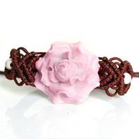 Jingdezhen ceramic porcelain workshop Bracelets flower bracelet restoring ancient bracelet gift free shipping