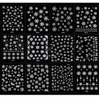 120 Sheet/lot Christmas snowflakes Design 3D Nail Art Stickers Decals Nail Art Decoration Drop shipping 19816*