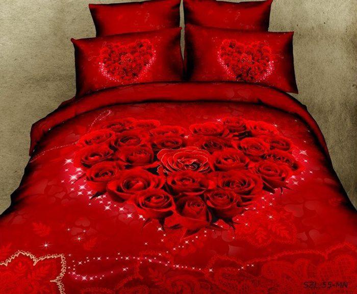 Queen Bed Sheets Rose Petal