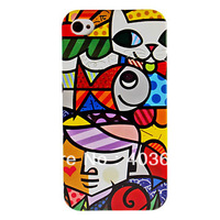 Free shipping Cartoon Boy Pattern Hard Case for iPhone 4 4S